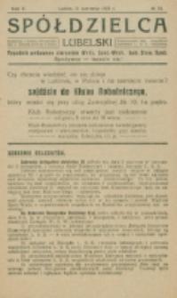 Spółdzielca Lubelski. R. 5, nr 24 (1921)