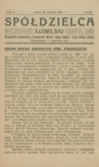 Spółdzielca Lubelski. R. 5, nr 26 (1921)
