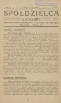 Spółdzielca Lubelski. R. 5, nr 29 (1921)