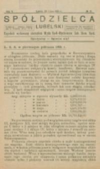 Spółdzielca Lubelski. R. 5, nr 31 (1921)