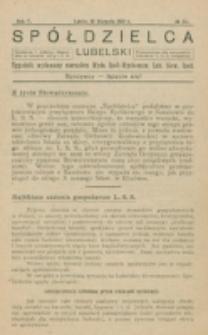 Spółdzielca Lubelski. R. 5, nr 33 (1921)