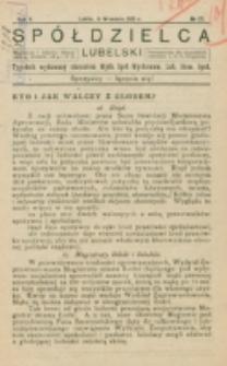 Spółdzielca Lubelski. R. 5, nr 37 (1921)