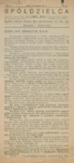 Spółdzielca Lubelski. R. 5, nr 38 (1921)