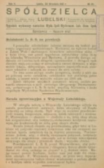 Spółdzielca Lubelski. R. 5, nr 39 (1921)