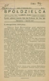 Spółdzielca Lubelski. R. 5, nr 43 (1921)