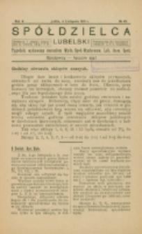 Spółdzielca Lubelski. R. 5, nr 45 (1921)
