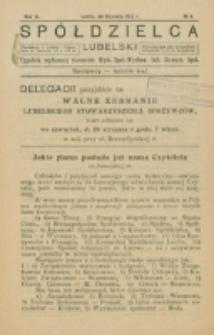 Spółdzielca Lubelski. R. 6, nr 4 (1922)