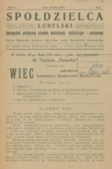 Spółdzielca Lubelski. R. 6, nr 16 (1922)