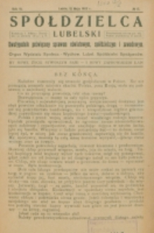 Spółdzielca Lubelski. R. 6, nr 15 (1922)