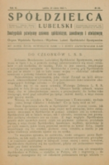 Spółdzielca Lubelski. R. 6, nr 20 (1922)