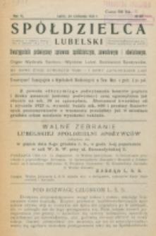 Spółdzielca Lubelski. R. 6, nr 29 (1922)