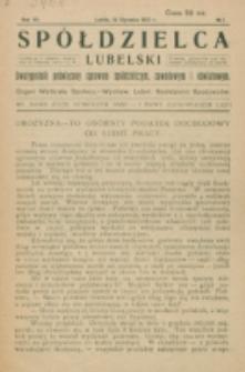 Spółdzielca Lubelski. R. 7, nr 1 (1923)