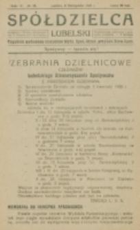 Spółdzielca Lubelski. R. 4, nr 45 (1920)
