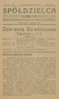 Spółdzielca Lubelski. R. 4, nr 47 (1920)
