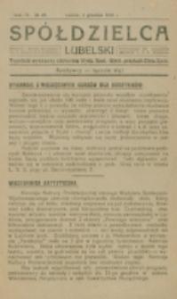 Spółdzielca Lubelski. R. 4, nr 49 (1920)