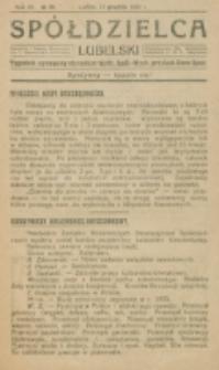 Spółdzielca Lubelski. R. 4, nr 50 (1920)