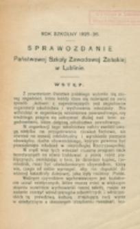 Sprawozdanie Państwowej Szkoły Zawodowej Żeńskiej w Lublinie. Rok szkolny 1925/1926