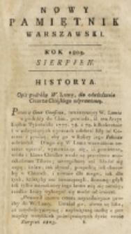 Nowy Pamiętnik Warszawski : [dziennik historyczny, polityczny, tudzież nauk i umiejętności]. T. 11 (sierpień 1803)
