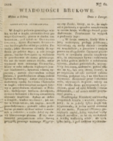 Wiadomości Brukowe. Nr 61 (1818)