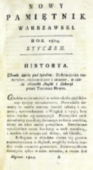 Nowy Pamiętnik Warszawski : [dziennik historyczny, polityczny, tudzież nauk i umiejętności]. T. 13 (styczeń 1804)