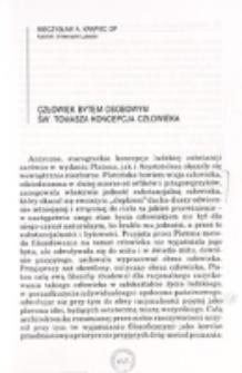 Człowiek bytem osobowym św. Tomasza koncepcja człowieka / Mieczysław A. Krapiec OP.