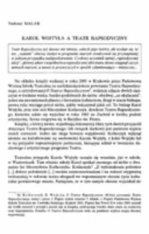 Karol Wojtyła a teatr raposdyczny.