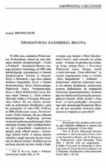 Dramaturgia Kazimierza Brauna.