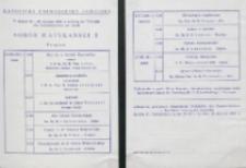 Sobór Watykański II, 23-25.VIII.1961 : program wykładów