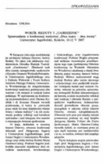 """Wokół Reduty i """"Gardzienic"""" (Sprawozdanie z konferencji naukowej """"Dwa teatry - dwa światy"""", Uniwersytet Jagielloński, Kraków, 10-12 V 2007)."""
