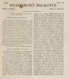 Wiadomości Brukowe. Nr 134 (1819)