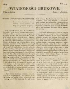 Wiadomości Brukowe. Nr 110 (1819)