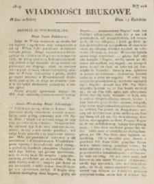 Wiadomości Brukowe. Nr 124 (1819)