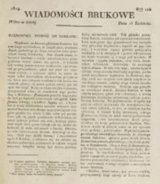 Wiadomości Brukowe. Nr 125 (1819)