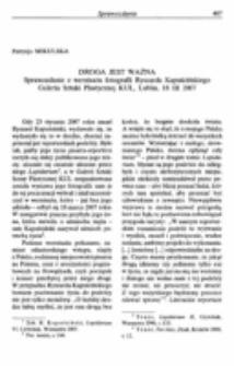 """O jedność bytową człowieka (Sprawozdanie z IX Międzynarodowego Sympozjum Metafizycznego z cyklu """"Zadania współczesnej metafizyki"""", KUL, Lublin, 14 XII 2006)."""