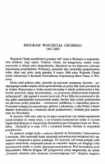 Biogram Wojciecha Chudego.