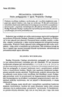 Pedagogia godności. Etyka pedagogiczna w ujęciu Wojciecha Chudego.