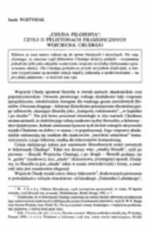 """""""Chuda filozofia"""", czyli o felietonach filozoficznych Wojciecha Chudego."""