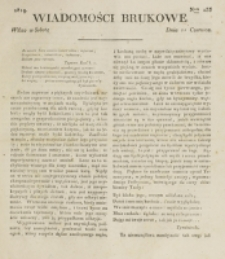 Wiadomości Brukowe. Nr 133 (1819)
