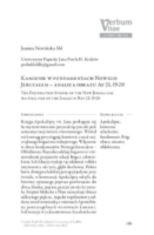 Kamienie w fundamentach NowegoJeruzalem – analiza obrazu Ap 21,19-20.