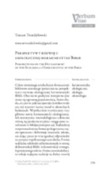 Perspektywy rozwoju ekologicznej hermeneutyki Biblii.