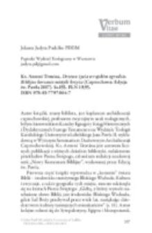 Recenzja : Ks. Antoni Tronina, Drzewo życia w rajskim ogrodzie. Biblijne korzenie mistyki krzyża (Częstochowa: Edycja św. Pawła 2017). Ss.155. PLN 19,95. ISBN 978-83-7797-804-7.