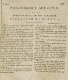 Wiadomości Brukowe. Nr 1 (1816)