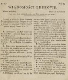 Wiadomości Brukowe. Nr 3 (1816)