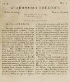 Wiadomości Brukowe. Nr 5 (1817)
