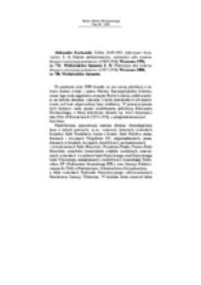Recenzja : Aleksander Kochański, Polska 1944-1991. Informator historyczny. T. I: Podział administracyjny, ważniejsze akty prawne,decyzje i enuncjacje państwowe (1944-1956), Warszawa 1996,ss. 724, Wydawnictwo Sejmowe. T. II: Ważniejsze akty prawne, decyzje i enuncjacje państwowe (1957-1970), Warszawa 2000,ss. 706, Wydawnictwo Sejmowe.
