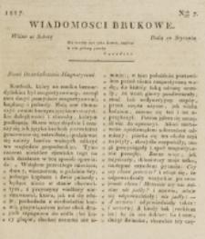 Wiadomości Brukowe. Nr 7 (1817)