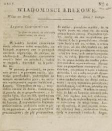 Wiadomości Brukowe. Nr 9 (1817)