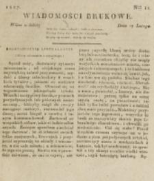 Wiadomości Brukowe. Nr 11 (1817)