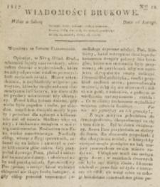 Wiadomości Brukowe. Nr 12 (1817)