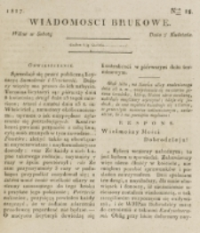 Wiadomości Brukowe. Nr 18 (1817)